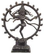 A late 19th/early 20th century Indian bronze of Shiva Nataraja