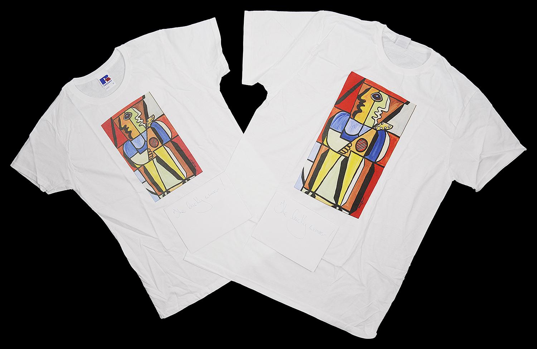 Lot 56 - Bargain Hunt Expert David Harper original artwork t-shirts
