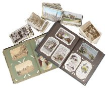 A large interesting collection of postcards, 1905 and later