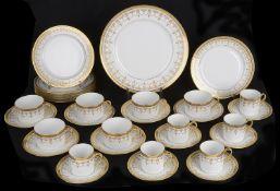 An Asprey Bernardaud Limoges porcelain part service, mid 20th century