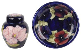 William Moorcroft Magnolia pattern ginger jar, 20th century