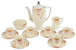 A Newhall porcelain coffee service