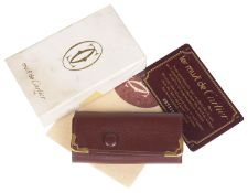 Must de Cartier red leather key holder