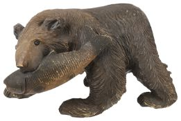 A large Black Forest carved bear circa 1900