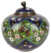 A Japanese cloisonné jar and cover, Meiji period