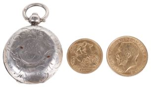 A George V 1911 full sovereign and a Edward VII 1910 half sovereign(3)