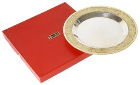 Stuart Leslie Devlin parcel-gilt silver plate, hallmarked London 1971