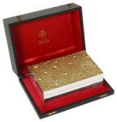 Stuart Leslie Devlin cased parcel-gilt-silver cigarette box, hallmarked London 1971