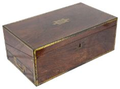 A Victorian rosewood writing slope