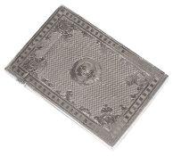 A Victorian silver card case, hallmarked Birmingham 1868