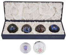 """Limited Ed Caithness 'The Planets"""" glass paperweights, 20th century; others"""