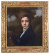 Continental School, 19th century 'Portrait of a young man', oil on board