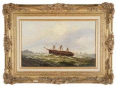 Continental School, 19th century 'Shipwreck at sea', oil on canvas