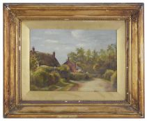 English School, a pair of Victorian oils on canvas of rural villages