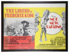 The Legend of Frenchie King/Not Now, Darling' Brit. Quad Film Poster