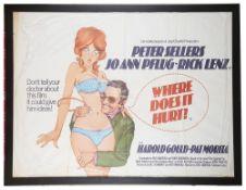 Where Does It Hurt' Brit. Quad Film Poster