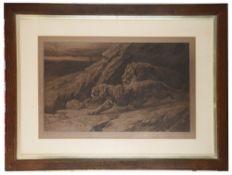 Herbert Thomas Dicksee (British, 1862 - 1942) 'Raiders', engraving