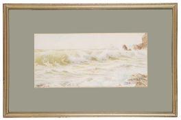 Ernest Stuart (1889-1915) 'Breaking Waves', watercolour