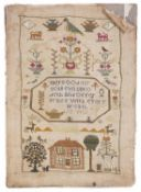 A late 19th century sampler