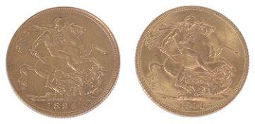 A Queen Victoria 1894 gold full sovereign, Sydney Mint