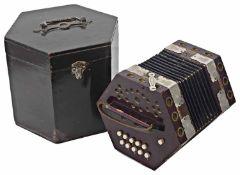 An 'Empress' ten key concertina, German