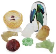 A selection of Lalique and Baccarat glass animals, 20th century