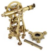 A brass Troughton & Simms transit theodolite
