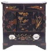 A Japanese lacquered table cabinet, 20th century