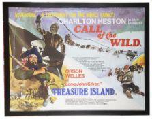 Call of the Wild / Treasure island' Brit. Quad Poster