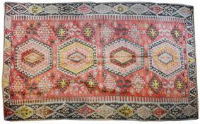 A colourful Kelim rug, 20th century