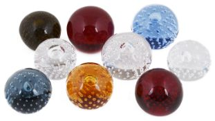 A delightful collection of glass paperweights, 20th century