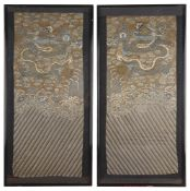 A pair of early 19th century Chinese embroidered panels
