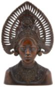 A Balinese polished hardwood carving, 20th century