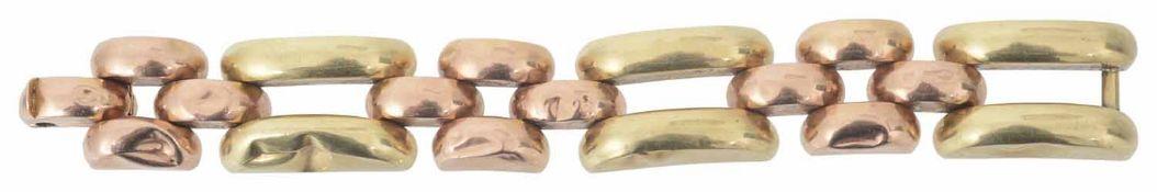 A large Continental .585 two colour gold bracelet
