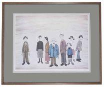 Laurence Stephen Lowry, RBA, RA, (British, 1887 - 1976) 'His Family', print