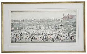 Laurence Stephen Lowry RBA RA (British, 1887 - 1976) 'Peel Park, Salford', print