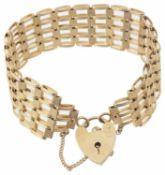 A fancy link five bar gate bracelet