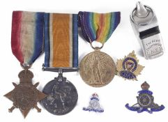 Brit. Campaign Medals for A. Bmbr. A. F. Stearn R.A. 78873