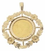 A George IV 1912 fine gold sovereign pendant
