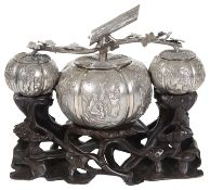 A Chinese silver centrepiece by Hung Chong, Canton & Shanghai