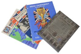 A rare metal printing block for the Jules Rimet 1966 World Cup Final football programme; others