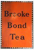 A large vintage 'Brooke Bond Tea' enamelled advertising sign