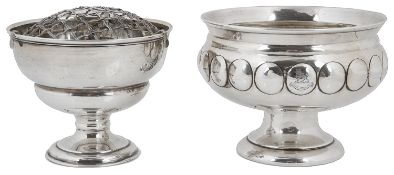 A George V silver pedestal bowl, hallmarked London 1912