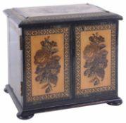 A Tunbridge ware desk cabinet box