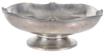 A 20th century silver pedestal dish, hallmarked Birmingham