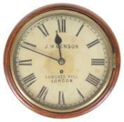 An English mahogany time piece