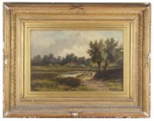 Abraham Hulk Jnr (1851-1922) 'Near Shere Surrey' oil on canvas