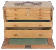 A Vintage jewellery and watch makers carrying case