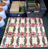 Lot 47 - A collection of Edwardian majolica glazed decorative wall tiles,