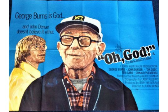 Movie Poster Oh God 40x30 Quad Movie Poster Grade A From 1977